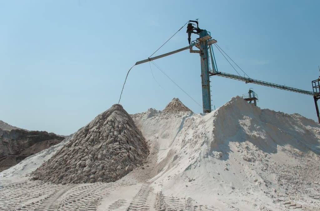 A silica sand mine that represents potential respirable crystalline silica exposures regulated by OSHA and MSHA