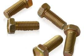 Bolts that are coated with cadmium that become an exposure hazard when cut or grinded