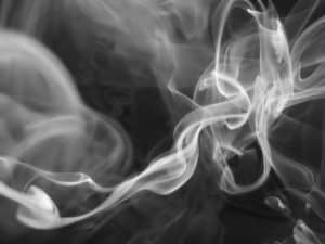 smoke in black and white