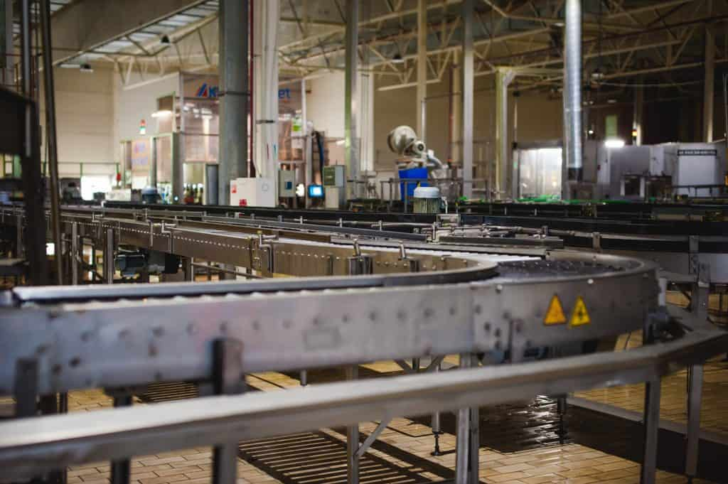 production line at factory